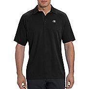 Champion Mens Catalyst Polo Short Sleeve Technical Tops - Black XL