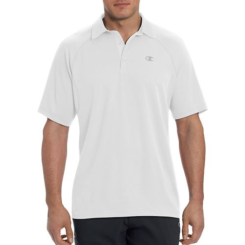 Champion Mens Catalyst Polo Short Sleeve Technical Tops - White XL