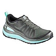 Womens Salomon Odyssey Pro Hiking Shoe - Olive/Blue 7