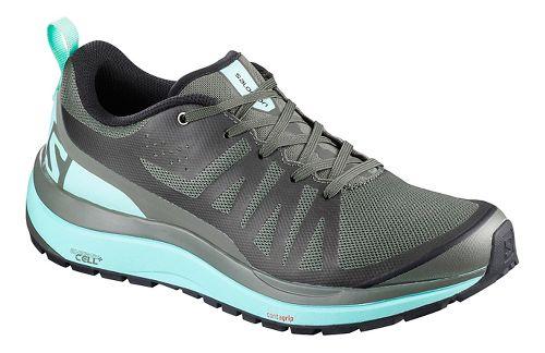 Womens Salomon Odyssey Pro Hiking Shoe - Olive/Blue 7.5