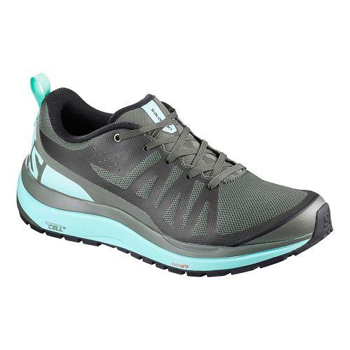 Womens Salomon Odyssey Pro Hiking Shoe - Olive/Blue 10