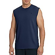 Mens Champion Classic Jersey Muscle Sleeveless & Tank Technical Tops - Navy XL