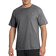 Mens Champion Classic Jersey Tee Short Sleeve Technical Tops - Granite Heather XXL