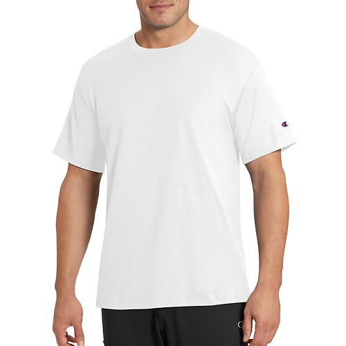 Mens Champion Classic Jersey Tee Short Sleeve Technical Tops - White 4XL