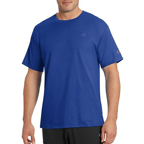 Mens Champion Classic Jersey Tee Short Sleeve Technical Tops - Surf The Web Blue XXL