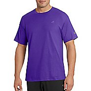 Mens Champion Classic Jersey Tee Short Sleeve Technical Tops - Purple XXL