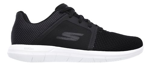 Womens Skechers GO Flex 2 Casual Shoe - Black/White 8