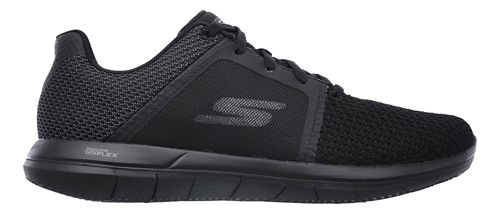 Womens Skechers GO Flex 2 Casual Shoe - Black/Grey 8
