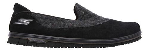 Womens Skechers GO Mini Flex - Ecstatic Walking Shoe - Black 7.5