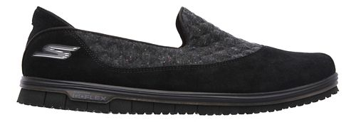 Womens Skechers GO Mini Flex - Ecstatic Walking Shoe - Black 9.5