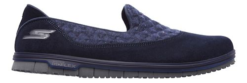 Womens Skechers GO Mini Flex - Ecstatic Walking Shoe - Navy 5