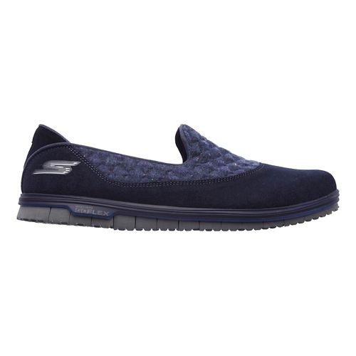 Womens Skechers GO Mini Flex - Ecstatic Walking Shoe - Navy 9