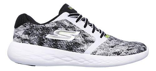 Womens Skechers GO Run 600 - Nite Owl V.2 Running Shoe - Black/White 8.5