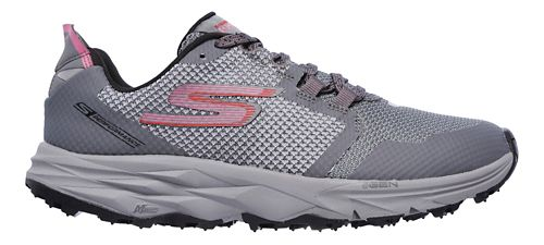 Womens Skechers GO Trail 2 Trail Running Shoe - Grey/Pink 11