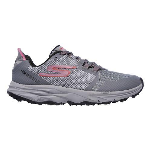Womens Skechers GO Trail 2 Trail Running Shoe - Grey/Pink 8.5