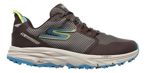 Womens Skechers GO Trail 2 Trail Running Shoe - Charcoal/Blue 6.5