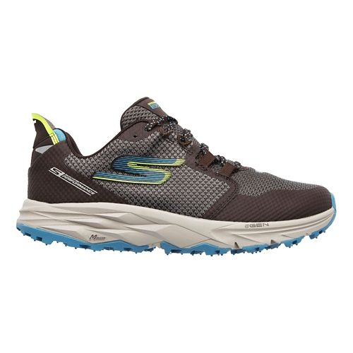 Womens Skechers GO Trail 2 Trail Running Shoe - Charcoal/Blue 9.5