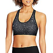 Womens Champion Absolute Racerback with SmoothTec Band-Print Sports Bras - Ceramic Grey/Black M