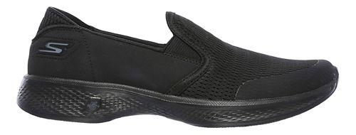 Womens Skechers GO Walk 4 - Attuned Walking Shoe - Black 6