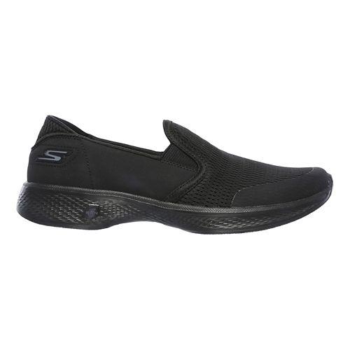 Womens Skechers GO Walk 4 - Attuned Walking Shoe - Black 9.5