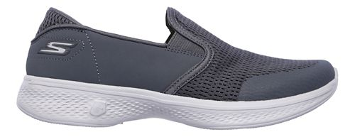 Womens Skechers GO Walk 4 - Attuned Walking Shoe - Charcoal 5.5