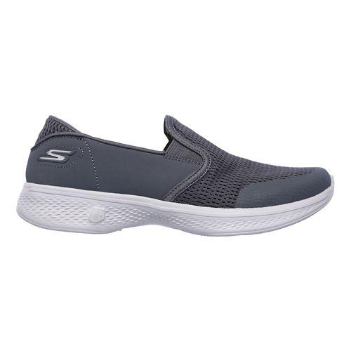 Womens Skechers GO Walk 4 - Attuned Walking Shoe - Charcoal 5.5