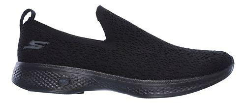 Womens Skechers GO Walk 4 - Gifted Walking Shoe - Black 10