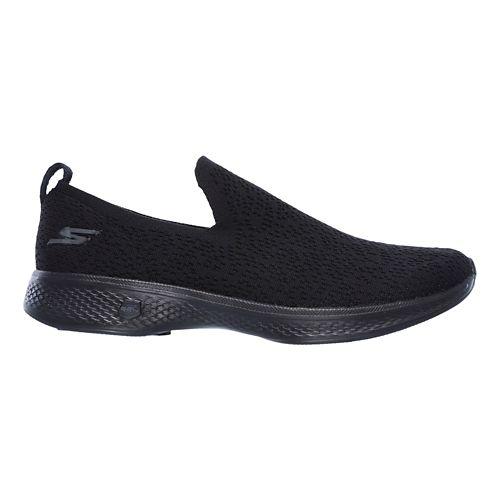 Womens Skechers GO Walk 4 - Gifted Walking Shoe - Black 10.5