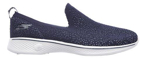 Womens Skechers GO Walk 4 - Gifted Walking Shoe - Navy/Grey 7