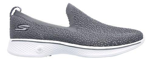 Womens Skechers GO Walk 4 - Gifted Walking Shoe - Black/White 7