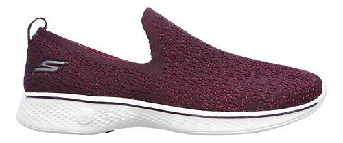 Womens Skechers GO Walk 4 - Gifted Walking Shoe - Burgundy 10.5