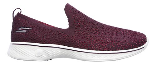 Womens Skechers GO Walk 4 - Gifted Walking Shoe - Burgundy 7