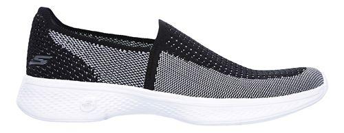 Womens Skechers GO Walk 4 - Ravish Walking Shoe - Black/White 6