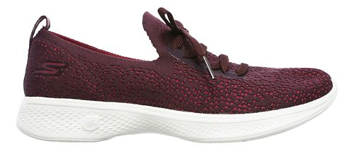Womens Skechers GO Walk 4 - Reward Walking Shoe - Burgundy 11