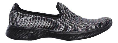 Womens Skechers GO Walk 4 - Select Walking Shoe - Black/Multi 8.5