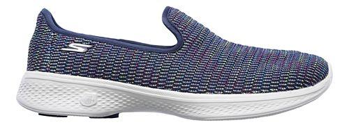 Womens Skechers GO Walk 4 - Select Walking Shoe - Navy/Multi 10.5