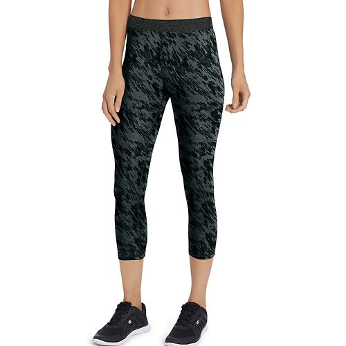 Womens Champion Everyday Capris Pants - Deep Pine Green M