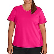 Womens Champion Plus C Vapor Select Tee Short Sleeve Technical Tops - Pop Art Pink XL