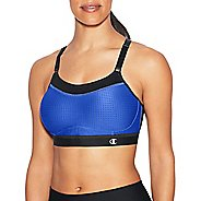 Womens Champion Show-Off Mesh Sports Bras - Steel Blue/Black S
