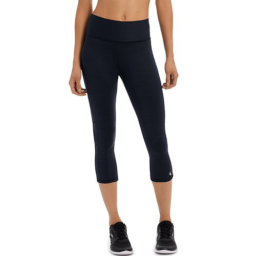 Womens Champion Absolute -Print Capris Pants - Black L