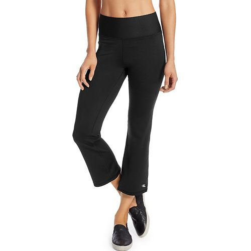 Womens Champion Absolute Flare Crop Pants - Black XS