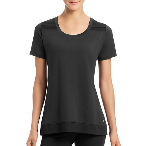 Womens Champion Absolute Mesh Tee Short Sleeve Technical Tops - Black L