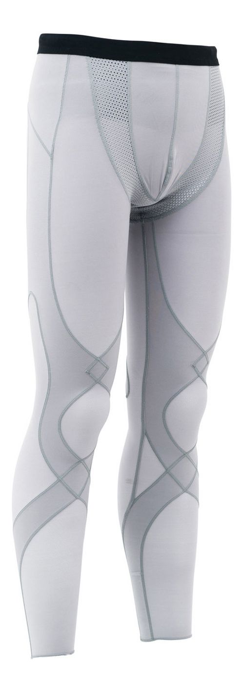 Mens CW-X Stabilyx Mesh Under Compression Tights - Light Grey L