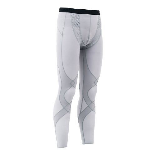 Mens CW-X Stabilyx Mesh Under Compression Tights - Light Grey S