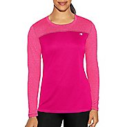 Womens Champion C Vapor Heather Tee Long Sleeve Technical Tops