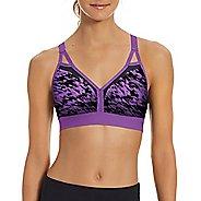 Womens Champion Curvy Strappy - Print Sports Bras - Purple Reef/Black S