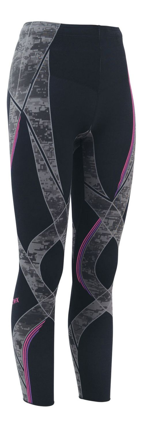 Womens CW-X Generator Revolution Compression Tights - Black/Stone Pink M