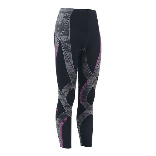 Womens CW-X Generator Revolution Compression Tights - Black/Stone Pink S