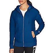 Womens Champion Heritage Fleece Zip Hood Half-Zips & Hoodies Technical Tops - Grey Scarf XL
