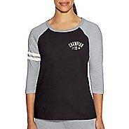 Womens Champion Heritage Slub Tee Short Sleeve Technical Tops - Grey Scarf/Oxford M